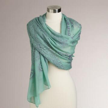 Mint and Purple Prayer Shawl